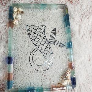 Beach Mermaid Resin Vanity Tray